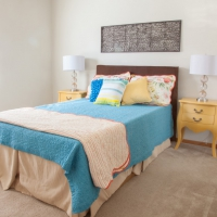 Providence Court Bedroom - Apartments in Columbia MO with utilities included